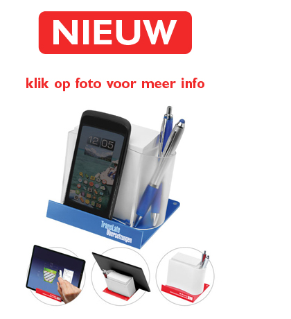 Smartphone-Tablethouder met memobox